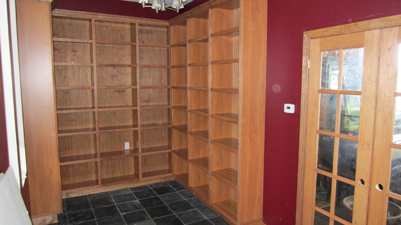 Custom Cherry Bookcases