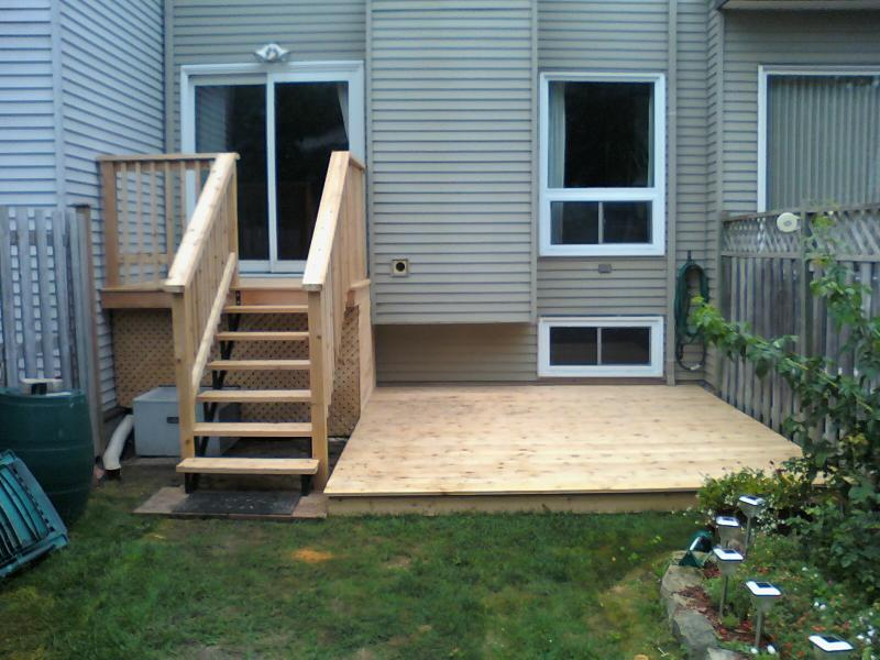 Back yard cedar deck