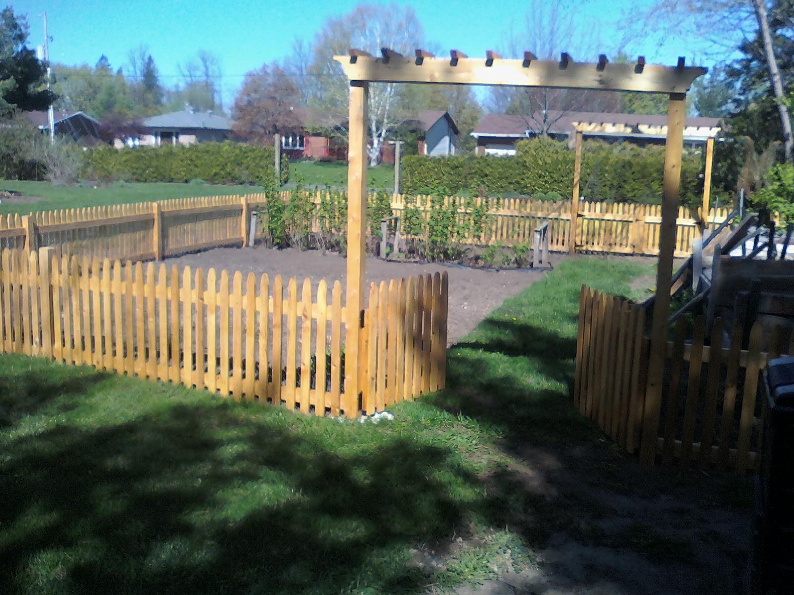 Custom garden fence